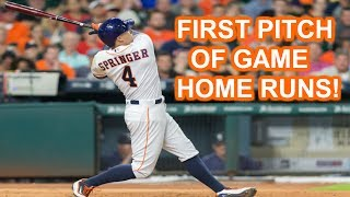 MLB   FIRST PITCH OF GAME HOME RUNS   1080p HD