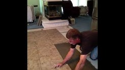 Installing 18x18 tile