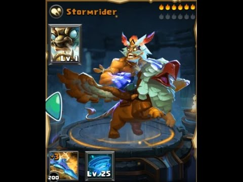 Clash of Lords 2  StormRider First Look Level 150 Level 25 Skill No Evolution No Enchants