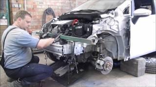 Ford B-Max. The front car repair. Ремонт переда машины.