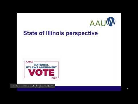 AAUW bylaws amendments webinar