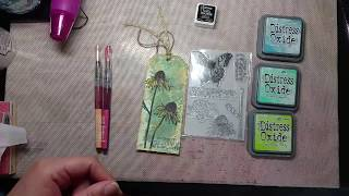 Distress Oxide Floral Tags Tutorial How To