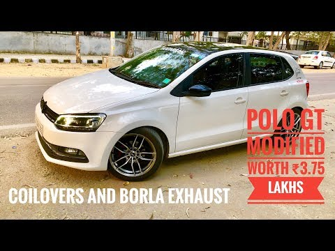 Polo Gt modified | best exhaust system for car | coilovers for polo | aftermarket lights