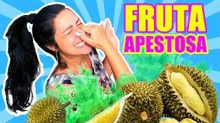 PROBANDO la FRUTA más APESTOSA del MUNDO! Frutas RARAS de ASIA! Durian, qué Peste! SandraCiresArt