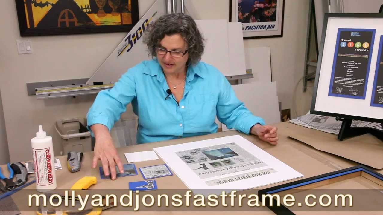 how to turn a newspaper article into framed art work youtube