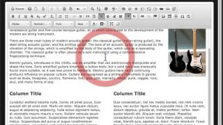 CMS 5 Content Editor - Content Templates