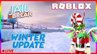 🔥🔴 (Camino a 6K) Roblox Jailbreak Actualización de invierno es FUERA!, Niveles y más, Ven a unirse! 🔴🔥