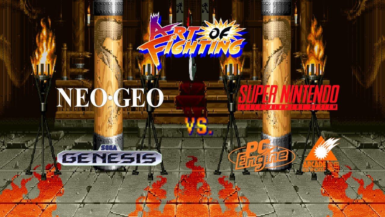 Art Of Fighting Neo Geo Vs Super Nes Genesis Pc Engine