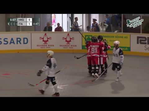 Hong Kong vs Italy 2015 World Ball Hockey Championships June 21 2015in Zug, Switzerland