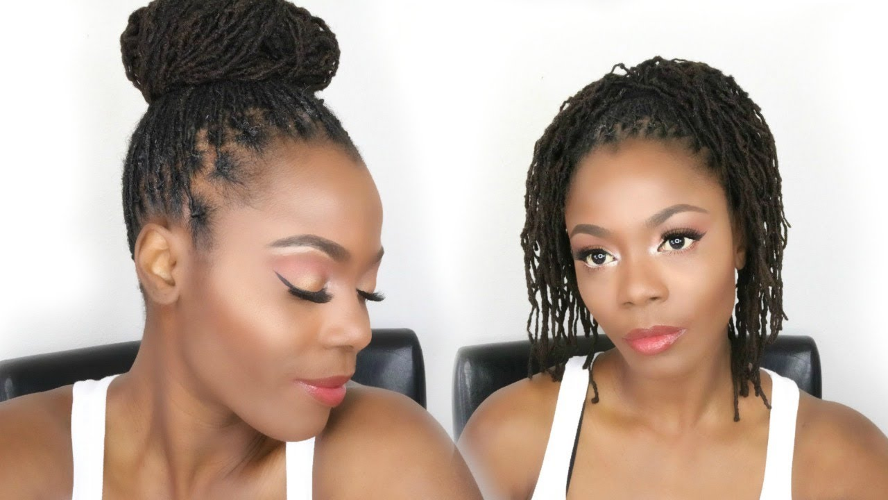 how to get the perfect bun with medium length locs plus bonus styles
