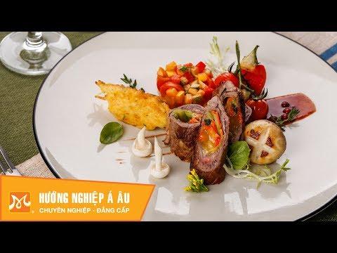 Cách làm bò cuộn phô mai sốt nấm hấp dẫn - Học nấu ăn ngon
