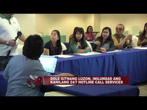 DOLE GITNANG LUZON, INILUNSAD ANG KANILANG 24/7 HOTLINE CALL SERVICES