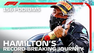 Lewis Hamilton's Journey To A Record-Breaking 156 F1 Podiums
