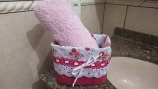 Como Fazer Cachepô de tecido – Usando pote de SORVETE