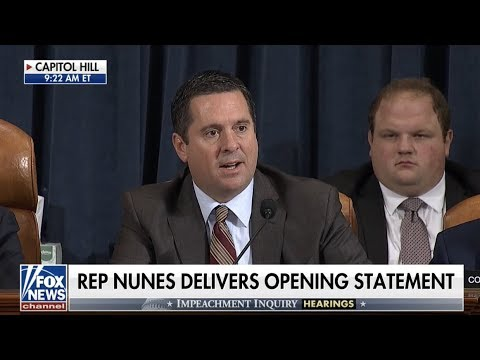 Rep. Nunes delivers opening statement for Vindman and Williams impeachment hearing