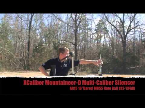 XCaliber Mountaineer-D Multi-Caliber Silencer AR15 Test