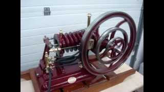 Demonstration of Slow Speed operation  1883 Flame Ignition Forest Slide Valve  Reproduction Engine
