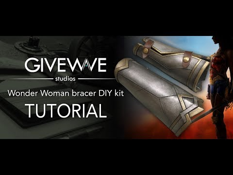Wonder Woman bracer DIY Kit ( TUTORIAL )
