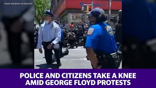 -police-citizens-knee-george-floyd-riots