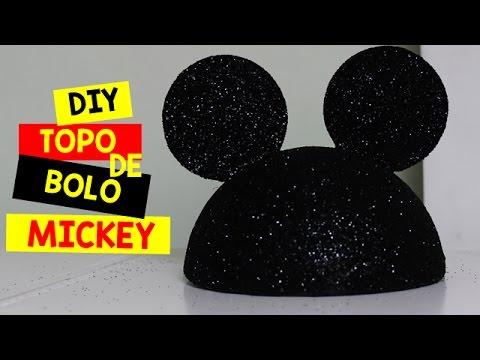 COMO FAZER TODO DE BOLO DO MICKEY OU MINNIE - YouTube 7237bad6794