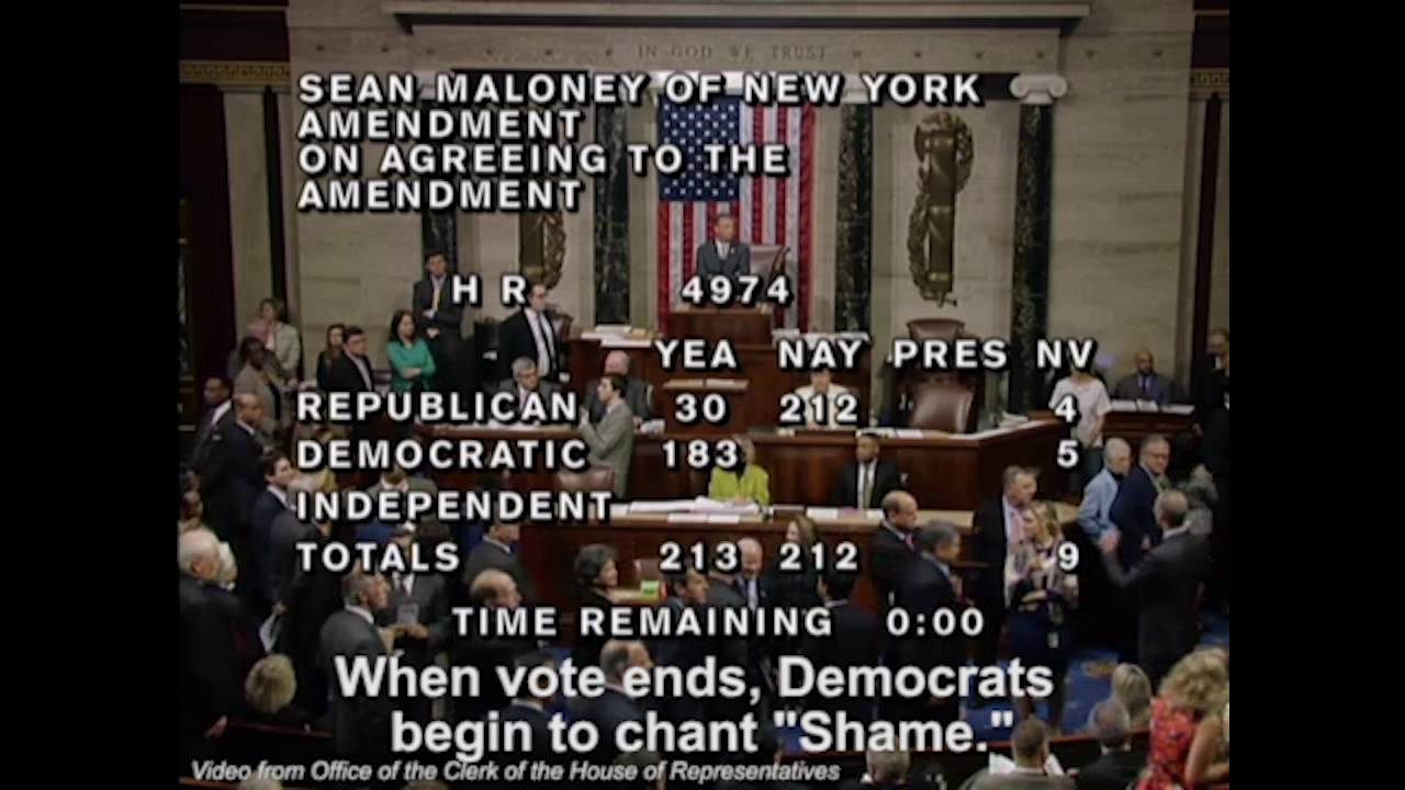 democrats chant 'shame' at republicans who switch vote in house of