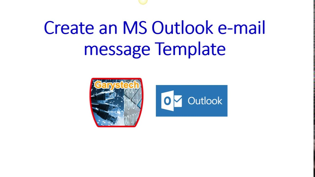 Create Email Message Templates in Microsoft Outlook - YouTube