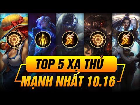 TOP 5 XẠ THỦ TỐT NHẤT PHIÊN BẢN 10.16 LMHT