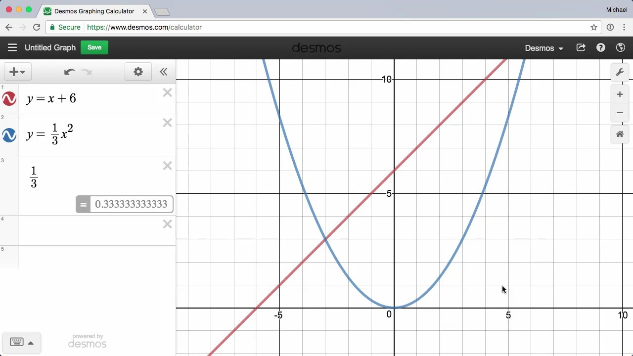 Graphing — Learn Desmos