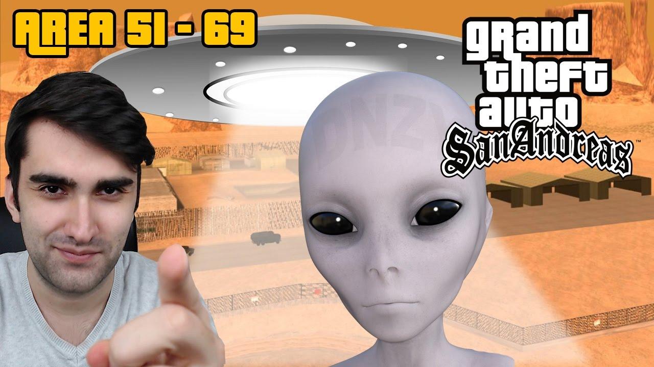 AREA 51(69)'A NASIL GİRİLİR VE UZAYLILAR! GTA SAN ANDREAS GİZEMLERİ #1