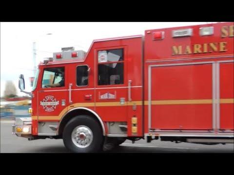 Seattle Fire Marine 1 responding w/ L9, E36, STAF10, SAFT2, DEP1 & B7