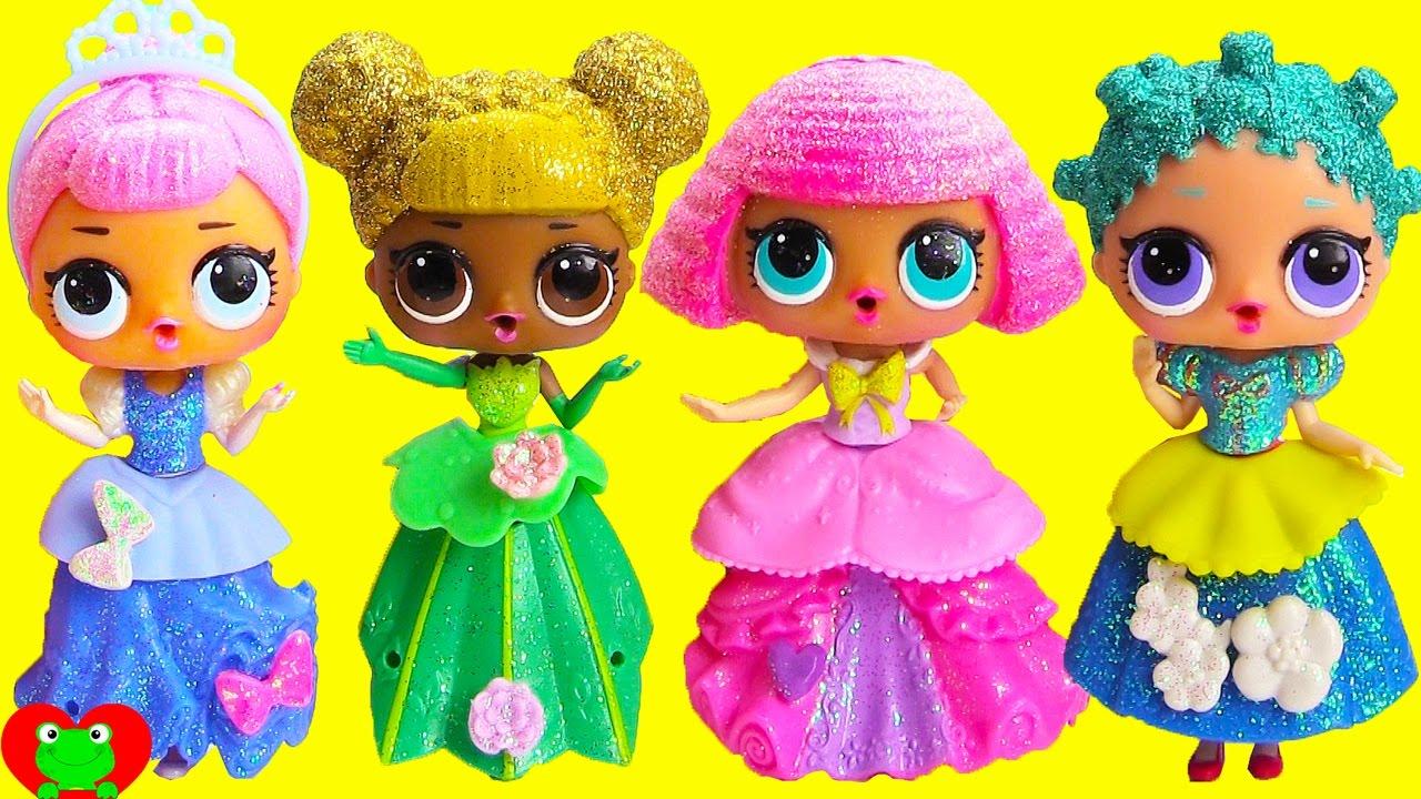 L O L Dolls Play Dress Up As Disney Princesses Doovi