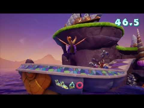 Spyro Reignited Trilogy(Spyro 2: Ripto's Rage)-Ocean Speedway-My Fastest Run-No Commentary