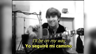 I'll Be On My Way - The Beatles (LYRICS/LETRA) [Original]