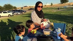 picnic dinner at C. J. Kelly Park midland texas