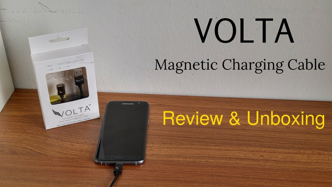 Volta Magnetic Charging Cable - Review & Unboxing [HD]