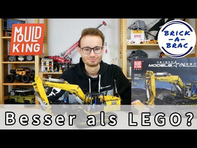 MOULD KING® RC Bagger / No. 13112 Mechanical Digger [LINK BELT 250X3] - Besser als LEGO® TECHNIC?