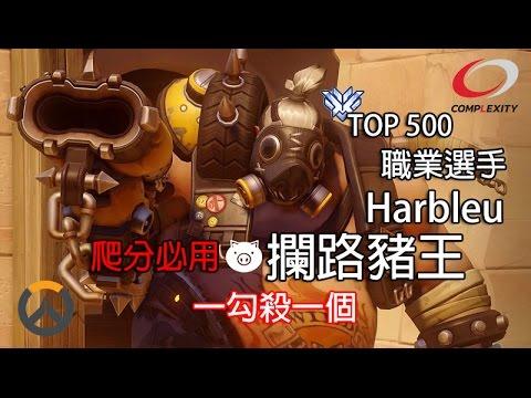 【Overwatch 爬分必用】職業OW選手 - Harbleu : 攔路豬王 - 一勾殺一個 [必看]