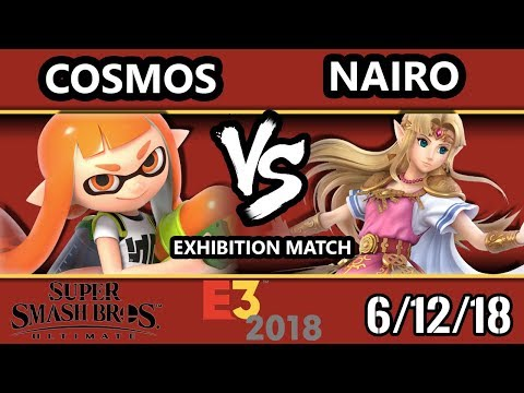 E3 2018 - SSBU Demo - Nairo (Zelda) Vs. Cosmos (Inkling) Smash Bros. Ultimate - Exhibition