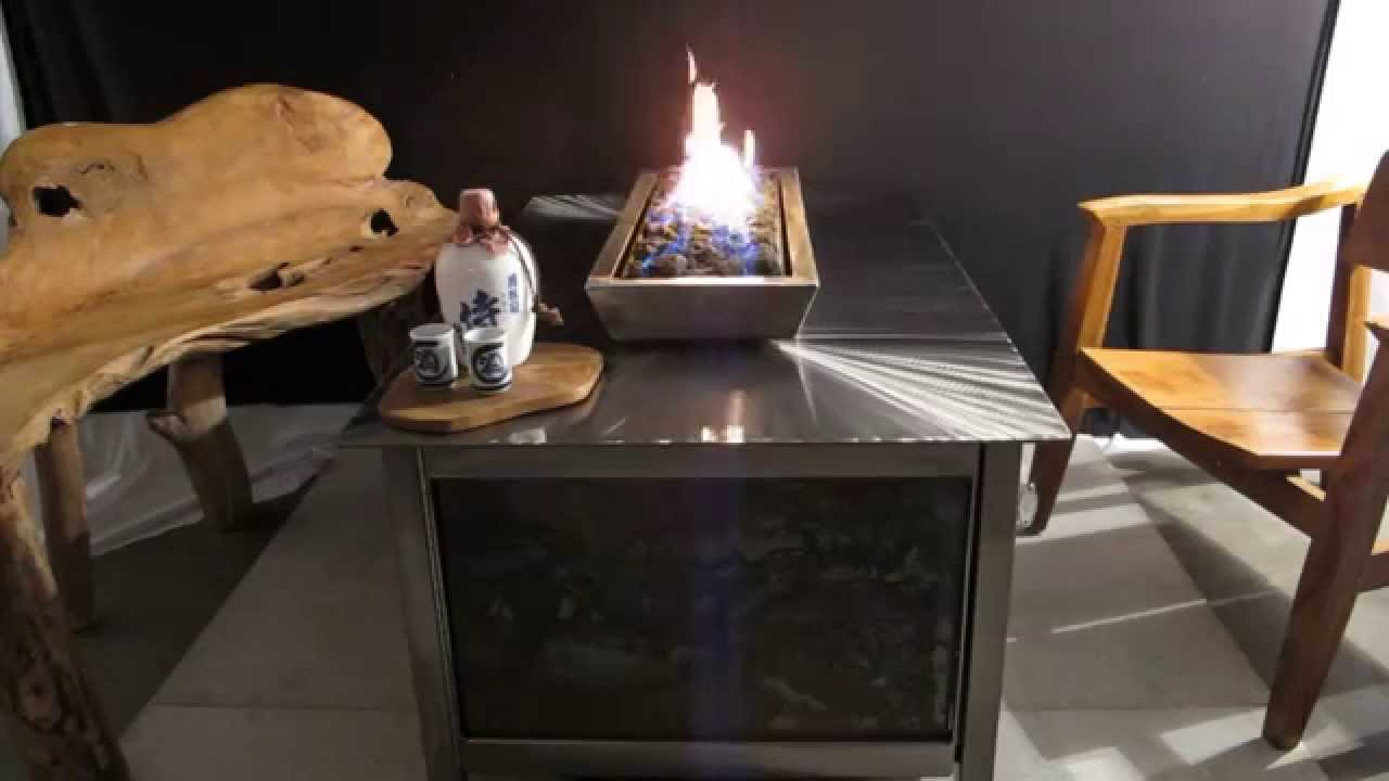 IMPACT Fire Table   Propane Or Natural Gas, Modern Industrial Design, Raw  Steel Side Panels