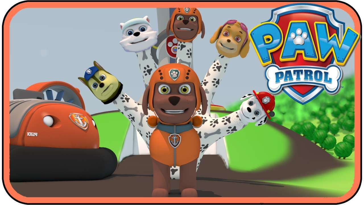 Paw Patrol Zuma Finger Family Nursery Rhymes Daddy Pups Song For Kids You