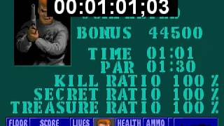 Wolfenstein 3D Escape from Castle Wolfenstein 1 speedrun 100% (Death Incarnate) in 1m. 1sec