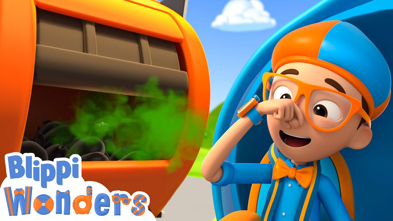 Blippi Animated Series | Garbage Truck | Vehicle Videos For Kids | Cartoons For Kids
