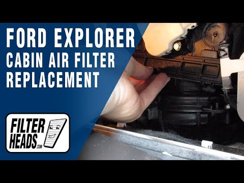 How To Replace Cabin Air Filter 2016 Ford Explorer Youtube