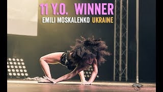 11 years old winner Emily Moskalenko - Alex Pole Dance Championship 2017 -