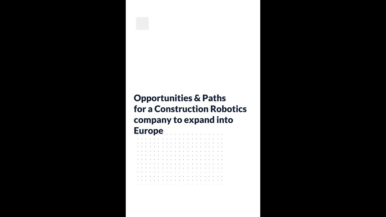 Insights@AugustOne: Opportunities for Robotics Company to Expand into European Markets.