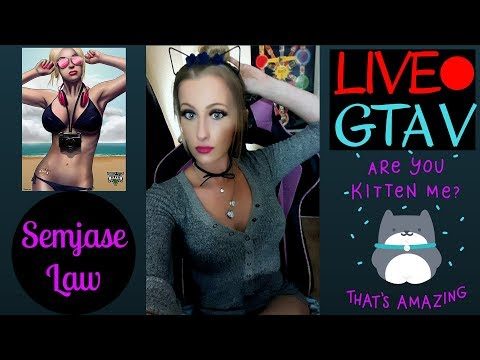 Semjase LIVE PS4~ GTAV Online broadcast, doing stuff with viewers!