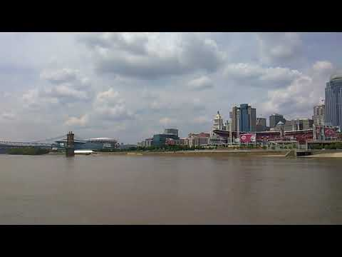 Ohio River And Cincinnati Skyline From The River Queen #4. (5-17-2018)