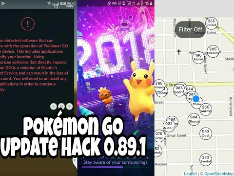 Pokemon Go Hack 0.89.1 UPDATE 2018 BRAND NEW SCANNER  MAP WORKING and RED WARNING FIX