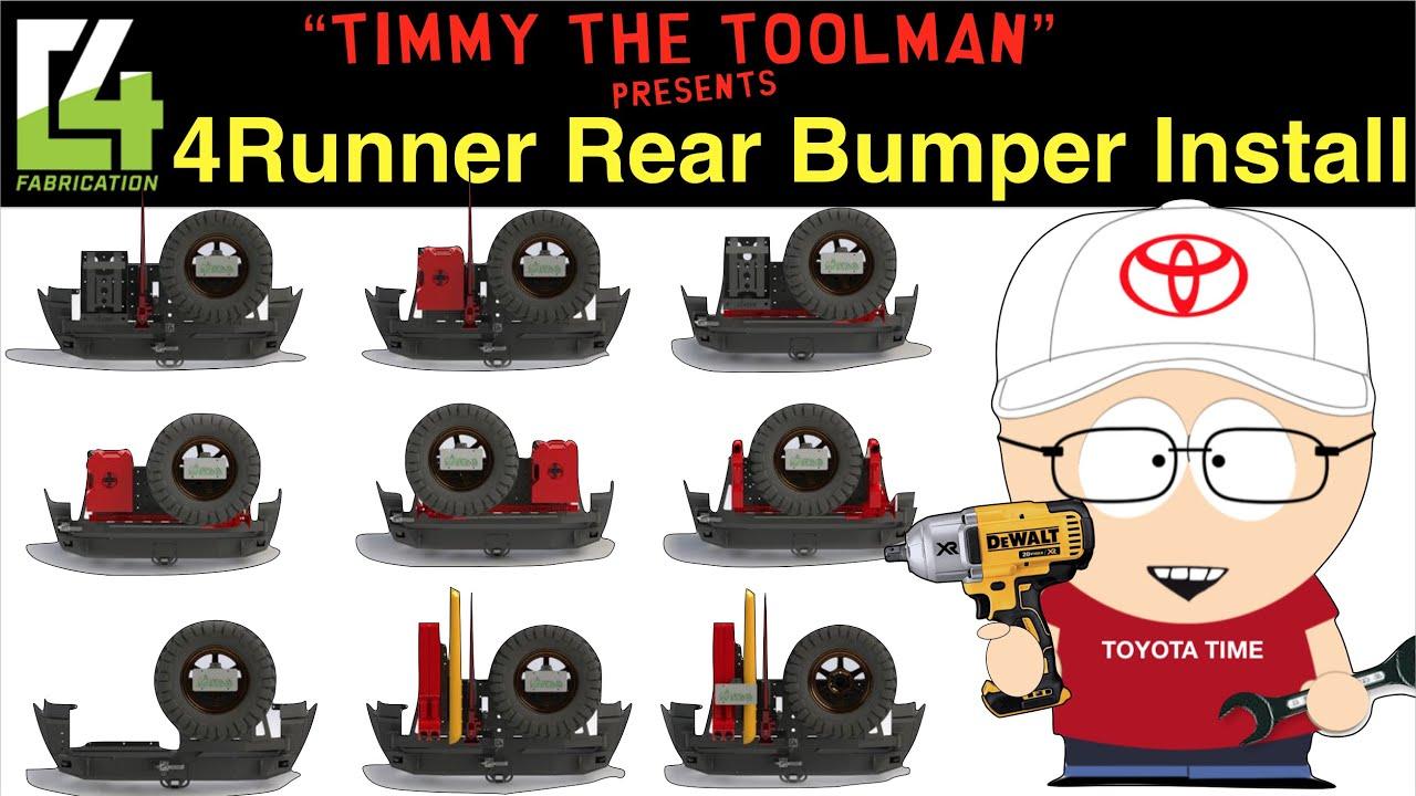 C4 Fabrication Rear Bumper Install (5th Gen 4runner) Part 1