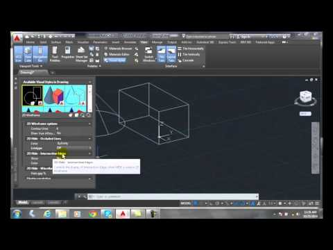 3D Modeling 15-06 Visual Style Settings   2D Wireframe